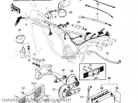 Kawasaki Kz1300-a3 1981 Canada Chassis Electrical Equipment