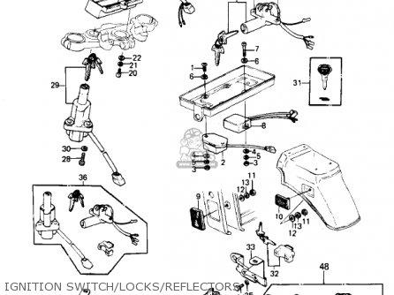 Kawasaki Kz1300-a3 1981 Canada Ignition Switch locks reflectors