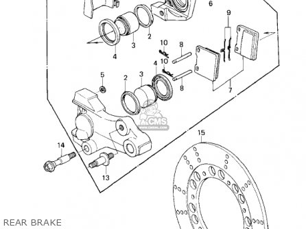 Kawasaki Kz1300-a3 1981 Canada Rear Brake