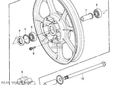 Kawasaki Kz1300-a3 1981 Canada Rear Wheel hub