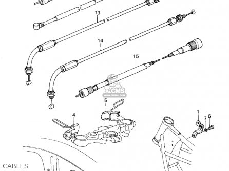 Kawasaki Kz1300a3 1981 Usa Canada Cables