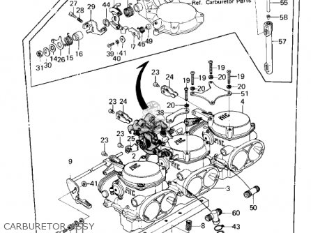 Kawasaki Kz1300a3 1981 Usa Canada Carburetor Assy