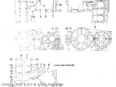 Kawasaki Kz1300a3 1981 Usa Canada Crankcase Bolt  Stud Pattern