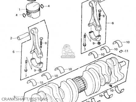 Kawasaki Kz1300a3 1981 Usa Canada Crankshaft pistons