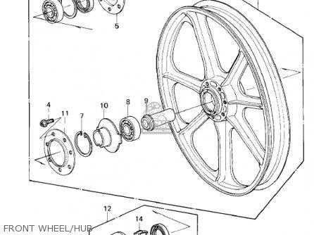 Kawasaki Kz1300a3 1981 Usa Canada Front Wheel hub