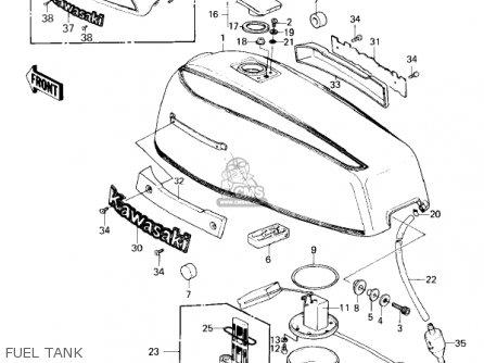 Kawasaki Kz1300a3 1981 Usa Canada Fuel Tank