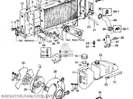 Kawasaki Kz1300a3 1981 Usa Canada Radiator fan coolant Tank