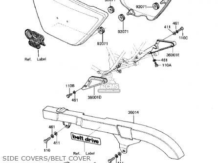 Kawasaki Kz305b1 Csr 1982 Usa Belt Drive Parts Lists And Schematics