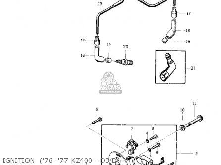 Partslist on Kawasaki Kz400