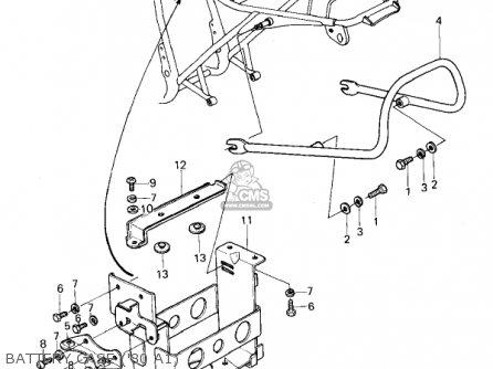 Kawasaki Kz440-a2 Ltd 1981 Usa Canada Battery Case 80 A1