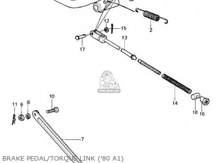 Kawasaki Kz440-a2 Ltd 1981 Usa Canada Brake Pedal torque Link 80 A1