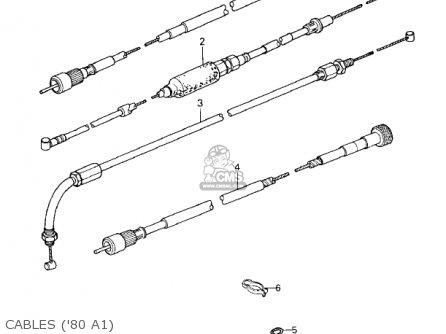 Kawasaki Kz440-a2 Ltd 1981 Usa Canada Cables 80 A1
