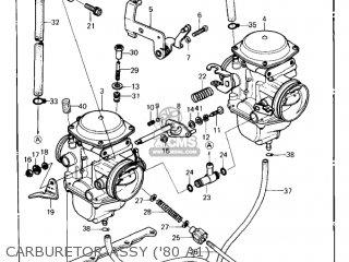Kawasaki Kz440-a2 Ltd 1981 Usa Canada Carburetor Assy 80 A1