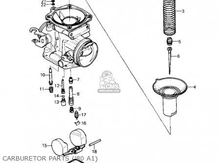 Kawasaki Kz440-a2 Ltd 1981 Usa Canada Carburetor Parts 80 A1