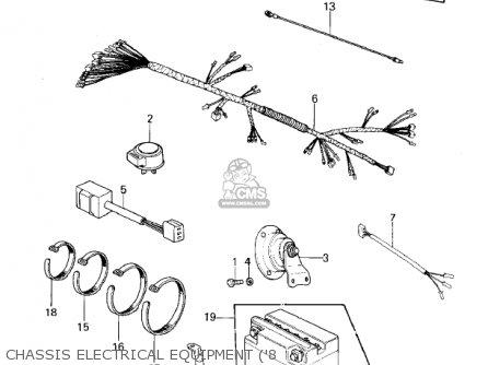 Kawasaki Kz440-a2 Ltd 1981 Usa Canada Chassis Electrical Equipment 8