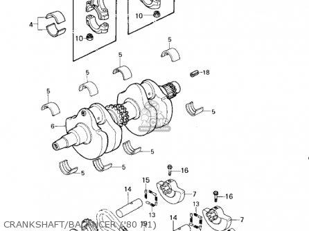 Kawasaki Kz440-a2 Ltd 1981 Usa Canada Crankshaft balancer 80 A1