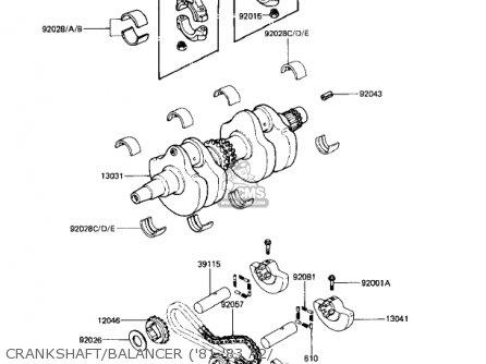 Kawasaki Kz440-a2 Ltd 1981 Usa Canada Crankshaft balancer 81-83 A2