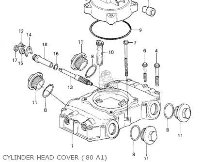 Kawasaki Kz440-a2 Ltd 1981 Usa Canada Cylinder Head Cover 80 A1