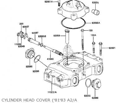 Kawasaki Kz440-a2 Ltd 1981 Usa Canada Cylinder Head Cover 8183 A2 a