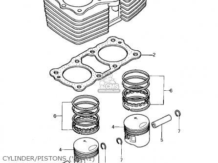 Kawasaki Kz440-a2 Ltd 1981 Usa Canada Cylinder pistons 80 A1