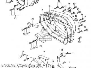 Kawasaki Kz440-a2 Ltd 1981 Usa Canada Engine Covers 80 A1