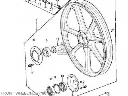 Kawasaki Kz440-a2 Ltd 1981 Usa Canada Front Wheel hub 80 A1