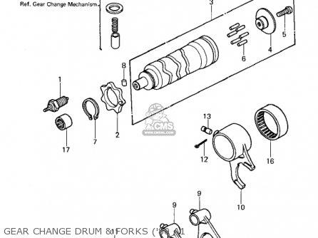Kawasaki Kz440-a2 Ltd 1981 Usa Canada Gear Change Drum  Forks 80 A1