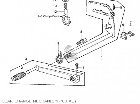 Kawasaki Kz440-a2 Ltd 1981 Usa Canada Gear Change Mechanism 80 A1