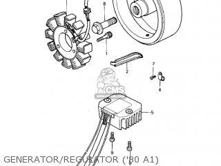 Kawasaki Kz440-a2 Ltd 1981 Usa Canada Generator regulator 80 A1