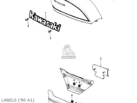 Kawasaki Kz440-a2 Ltd 1981 Usa Canada Labels 80 A1