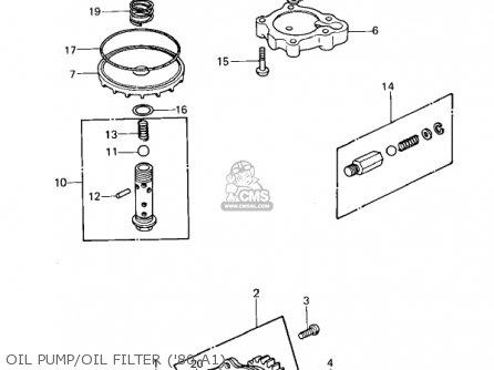 Kawasaki Kz440-a2 Ltd 1981 Usa Canada Oil Pump oil Filter 80 A1