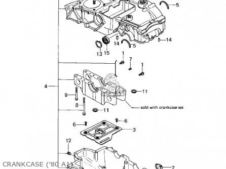 Kawasaki Kz440a2 Ltd 1981 Usa Canada Crankcase 80 A1