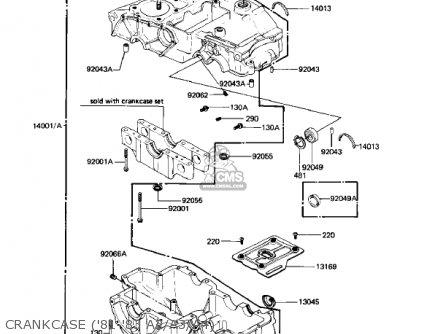 Kawasaki Kz440a2 Ltd 1981 Usa Canada Crankcase 81-83 A2 a3 a4