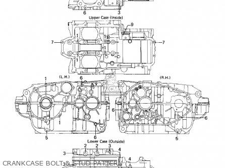Kawasaki Kz440a2 Ltd 1981 Usa Canada Crankcase Bolt  Stud Pattern