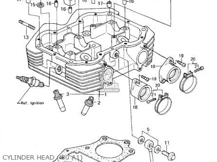Kawasaki Kz440a2 Ltd 1981 Usa Canada Cylinder Head 80 A1