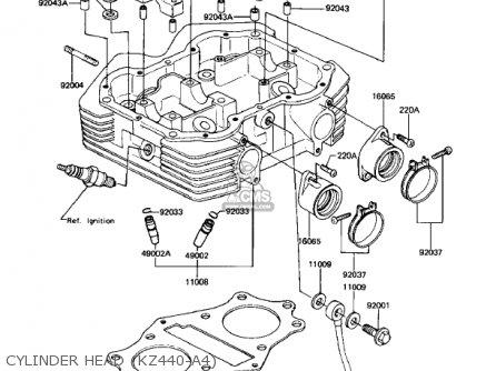 Kawasaki Kz440a2 Ltd 1981 Usa Canada Cylinder Head kz440-a4