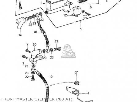 Kawasaki Kz440a2 Ltd 1981 Usa Canada Front Master Cylinder 80 A1