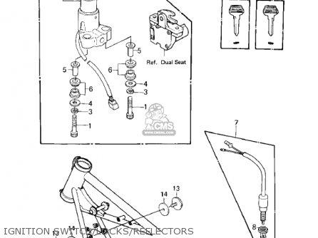 Kawasaki Kz440a2 Ltd 1981 Usa Canada Ignition Switch locks reflectors