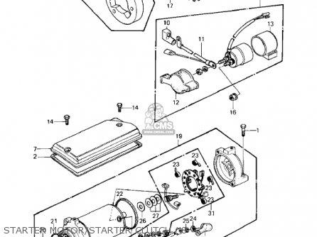 Kawasaki Kz440a2 Ltd 1981 Usa Canada Starter Motor starter Clutch 8