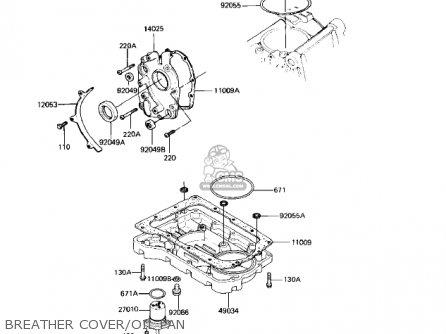 Kawasaki Kz550-h2 Gpz 1983 Usa Canada Breather Cover oil Pan
