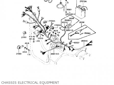 Kawasaki Kz550-h2 Gpz 1983 Usa Canada Chassis Electrical Equipment