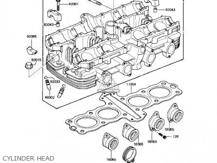 Kawasaki Kz550-h2 Gpz 1983 Usa Canada Cylinder Head