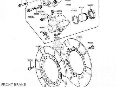 Kawasaki Kz550-h2 Gpz 1983 Usa Canada Front Brake