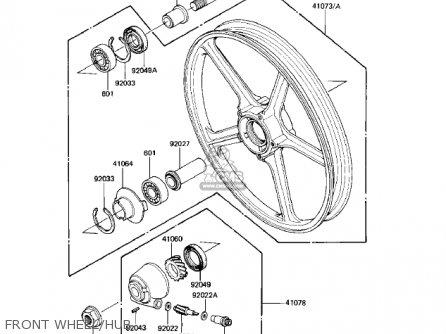 Kawasaki Kz550-h2 Gpz 1983 Usa Canada Front Wheel hub