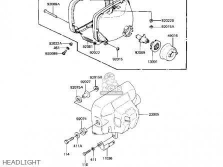 Kawasaki Kz550-h2 Gpz 1983 Usa Canada Headlight