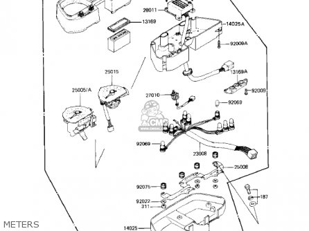 Kawasaki Kz550-h2 Gpz 1983 Usa Canada Meters