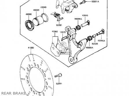Kawasaki Kz550-h2 Gpz 1983 Usa Canada Rear Brake