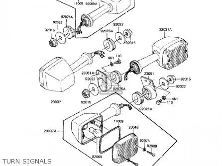 Kawasaki Kz550-h2 Gpz 1983 Usa Canada Turn Signals
