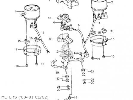 kawasaki kz550c1 ltd 1980 usa canada parts list