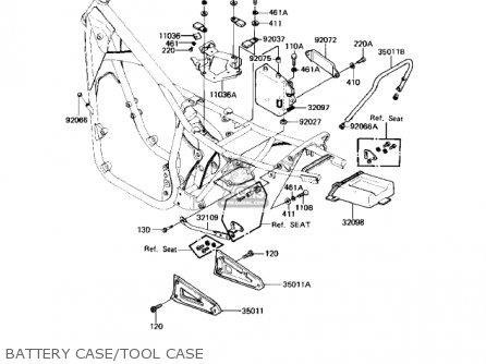 Kawasaki Kz550h2 Gpz 1983 Usa Canada Battery Case tool Case